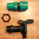 Plastic Water Butt Tap with Hose Connector